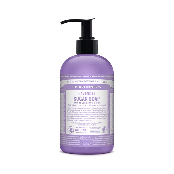 Mangolds_DR-BRONNERS_Sugarsoap_Handseife_Lavendel_355ml_€14,99